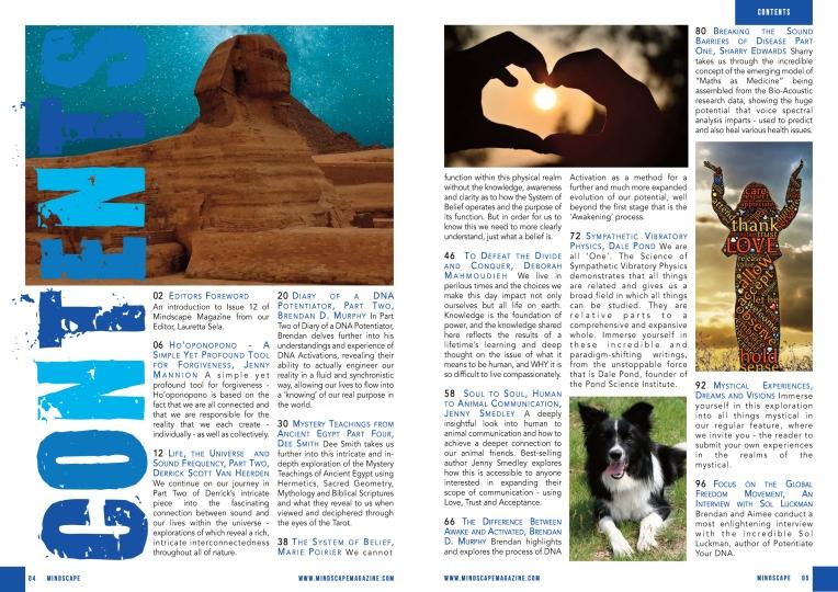 Mindscape 12 Contents
